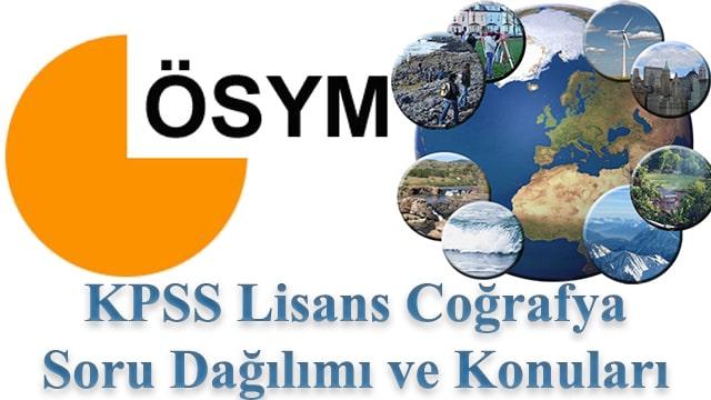 KPSS Lisans Coğrafya Konuları ve Soru Dağılımı