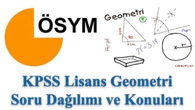 Photo of KPSS Lisans Geometri Konuları ve Soru Dağılımı