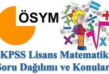 Photo of KPSS Lisans Matematik Konuları ve Soru Dağılımı