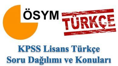 Photo of KPSS Lisans Türkçe Konuları ve Soru Dağılımı