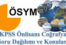 Photo of KPSS Önlisans Coğrafya Konuları ve Soru Dağılımı
