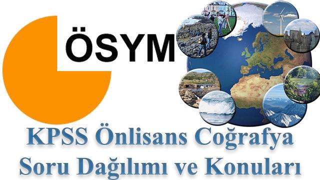KPSS Önlisans Coğrafya Konuları ve Soru Dağılımı