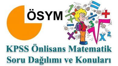 Photo of KPSS Önlisans Matematik Konuları ve Soru Dağılımı