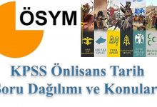 Photo of KPSS Önlisans Tarih Konuları ve Soru Dağılımı