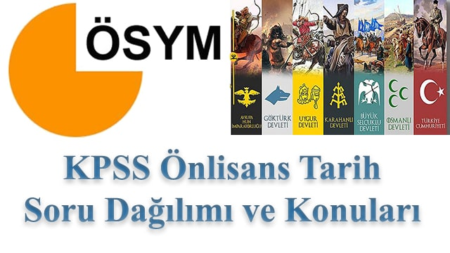 KPSS Önlisans Tarih Konuları ve Soru Dağılımı