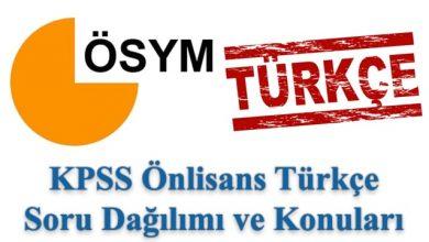Photo of KPSS Önlisans Türkçe Konuları ve Soru Dağılımı